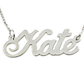 Sterling Silver Double Thickness 'Extra Large' Personalised Name Necklace