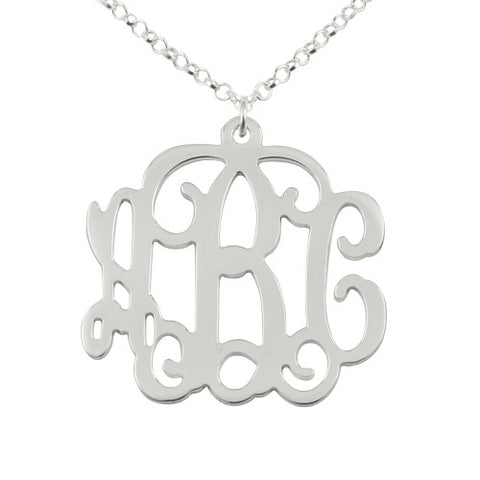 Sterling Silver Personalised Monogram Necklace