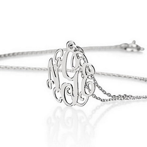 Sterling Silver Personalised Mini Monogram Necklace