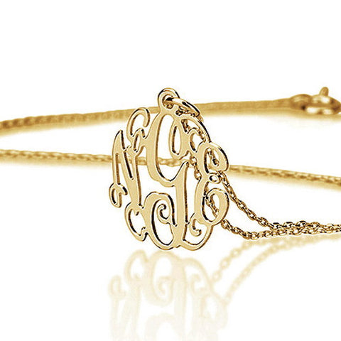 18K Gold Plated Personalised Mini Monogram Necklace
