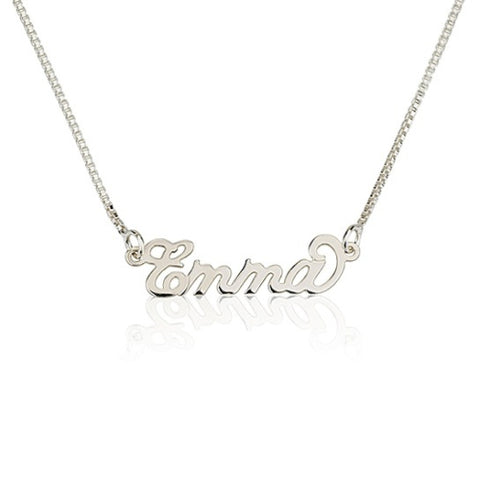 Sterling Silver Personalised Mini Name Necklace