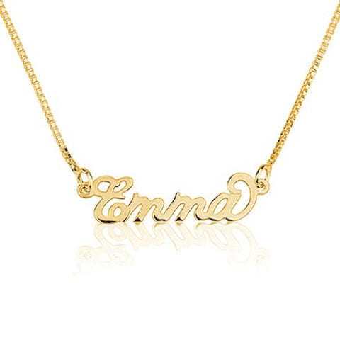 18K Gold Plated Personalised 'Mini' Name Necklace