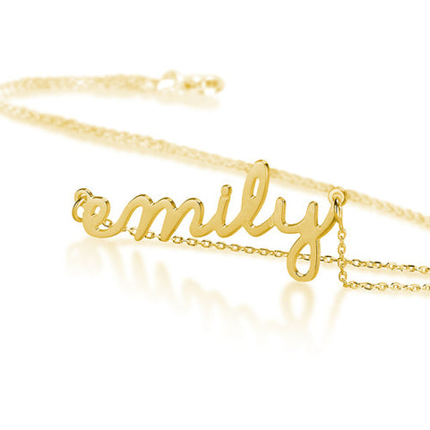 18K Gold Plated Personalised Script Name Necklace