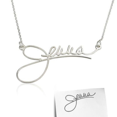 Sterling Silver Personalised Signature/ Handwriting Necklace