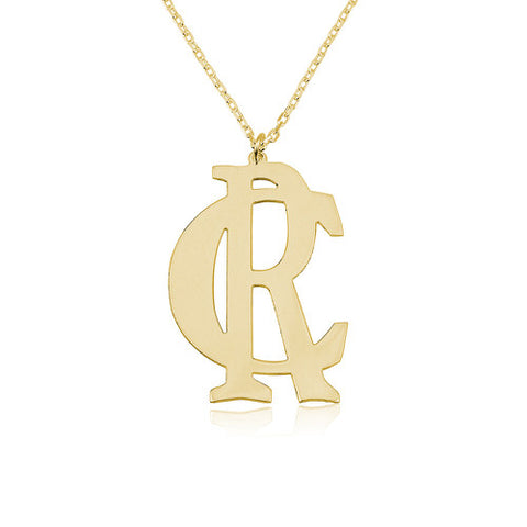 18K Gold Plated Personalised Initials Necklace
