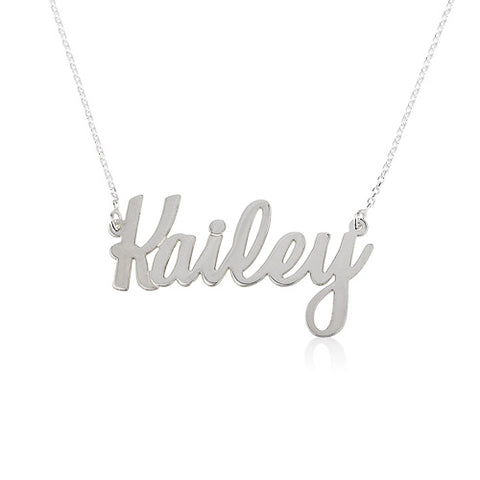 Sterling Silver Personalised Cursive Name Necklace