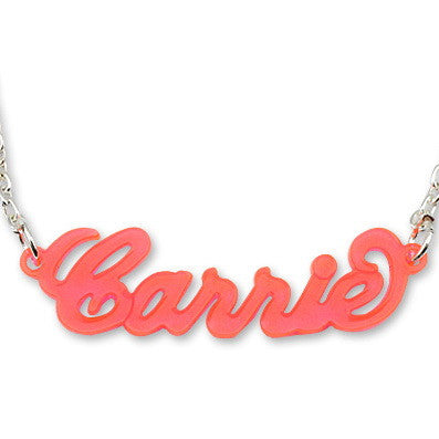 Personalised Acrylic Carrie Style Name Necklace