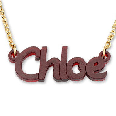 Personalised Script Name Necklace with 18K Gold Plated Chain