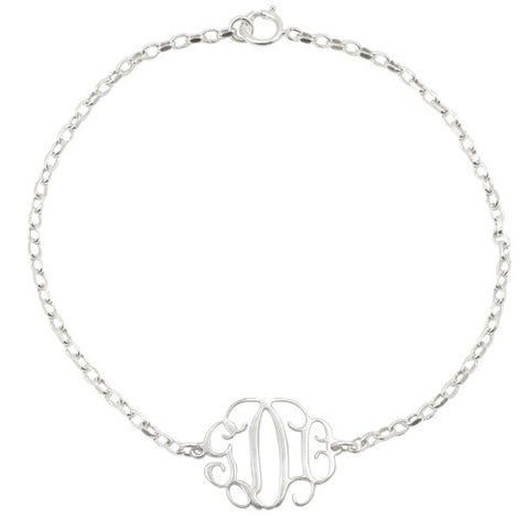 Personalised Sterling Silver Monogram Bracelet