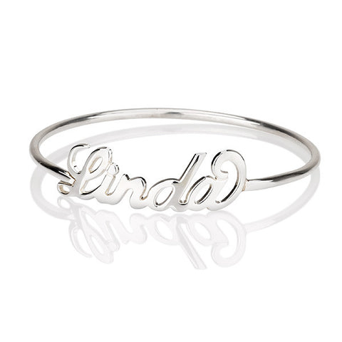 Sterling Silver Personalised Name Bangle