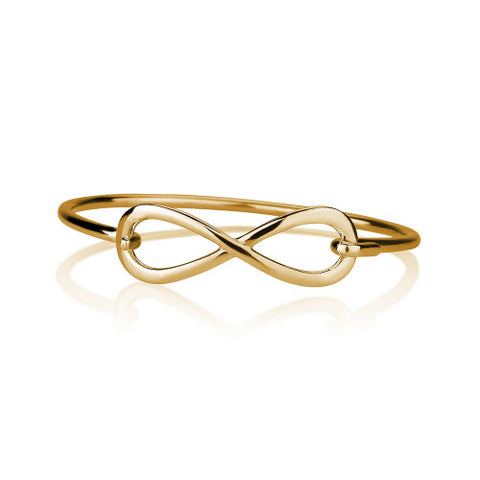 18K Gold Plated Infinity Bangle