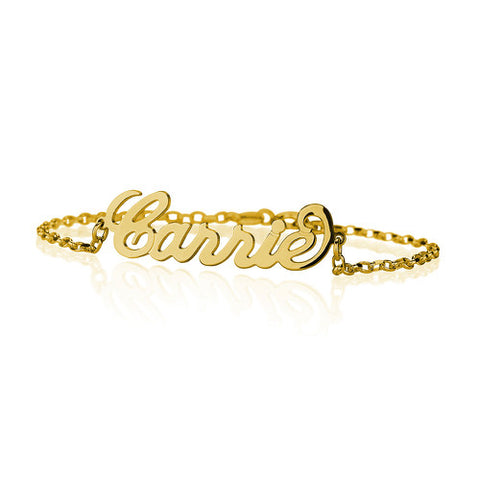 18K Gold Plated Personalised Name Bracelet