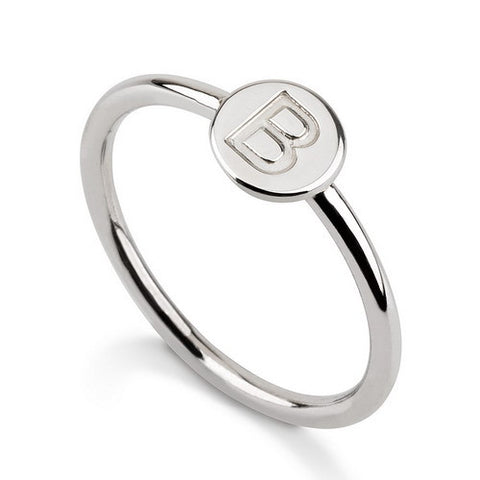Sterling Silver Personalised Initial Band Ring