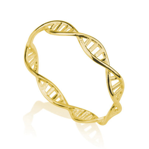 18K Gold Plated DNA Ring