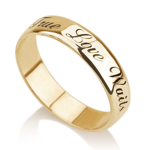 18K Gold Plated Personalised Band Ring