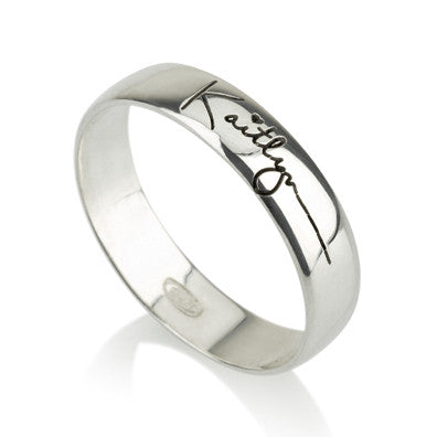 Sterling Silver Personalised Signature/ Handwriting Ring