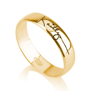 18K Gold Plated Personalised Signature/ Handwriting Ring