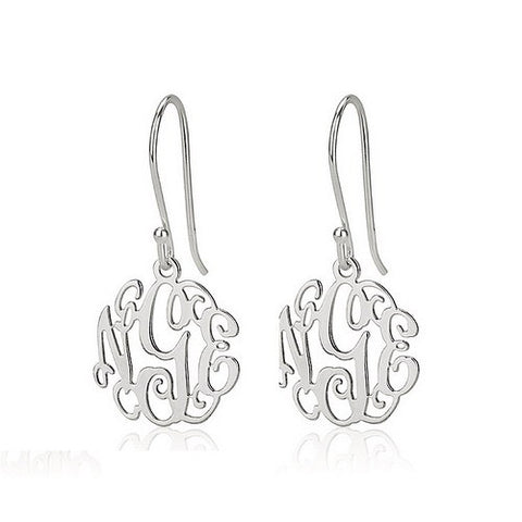 Sterling Silver Personalised Mini Monogram Earrings