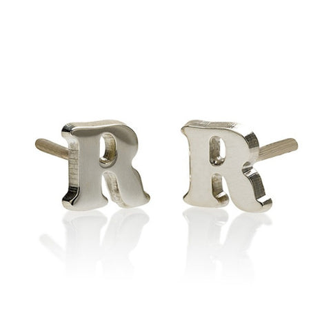 Sterling Silver Personalised Initial Earrings