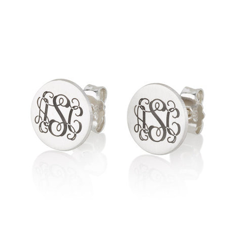 Sterling Silver Personalised Monogram Earrings