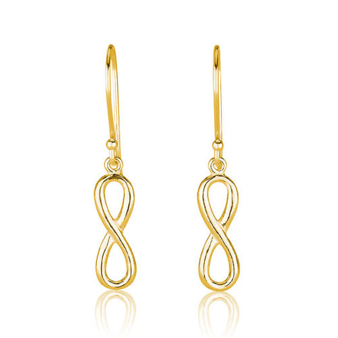 18K Gold Plated Infinity Earrings