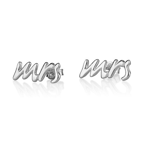 Sterling Silver Mrs Earrings