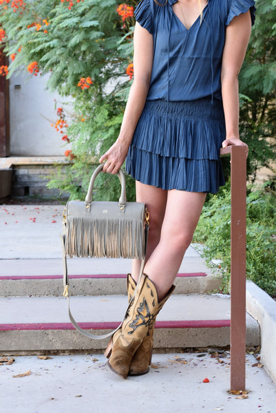Mini Frida Fringe Leather Bag