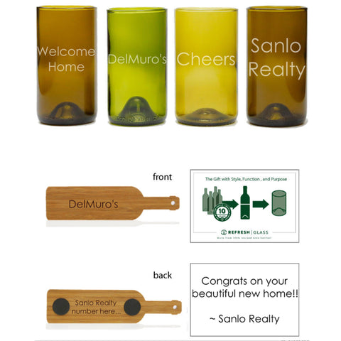 16oz 4 pack: Custom etch each of the 4 glasses individually