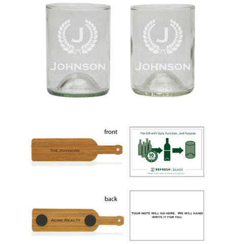 Bourbon 2 pack: Crest and initial with name