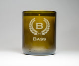 1 Soy candle: Crest with initial and name
