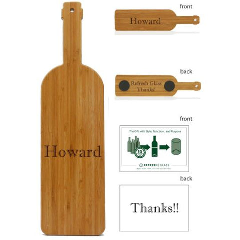 "18"" Wine bottle shaped serving board"