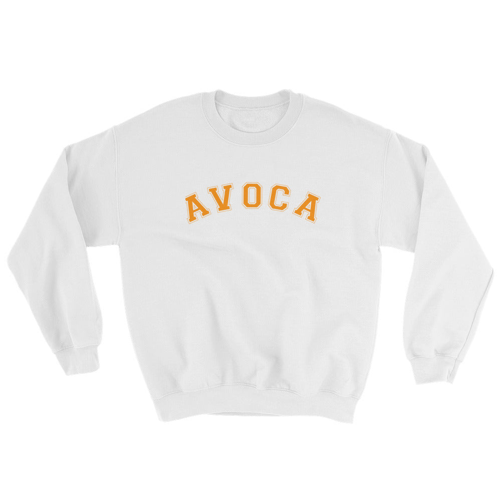 College Style Sweatshirt - Orange