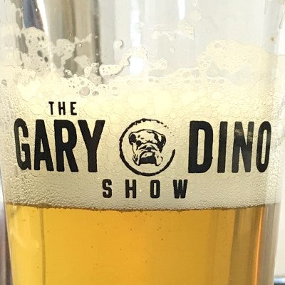 The Gary and Dino Show PINT GLASS