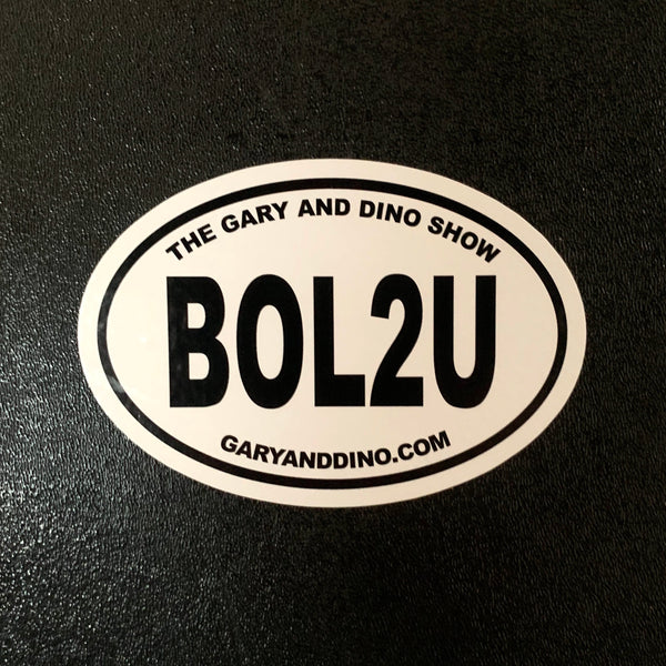 The Gary and Dino Show BOL2U BUMPER STICKER