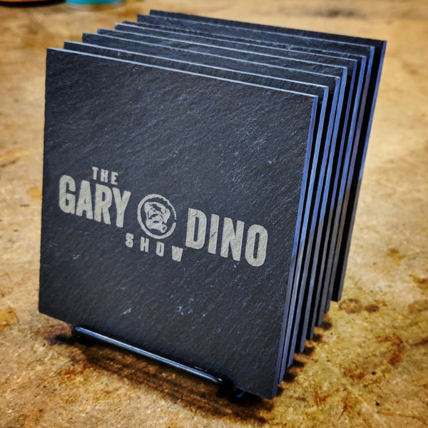 The Gary and Dino Show SLATE COASTERS (set of 4)