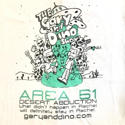 The Gary and Dino Show AREA 51 T-Shirt