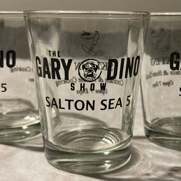 The Gary and Dino Show SALTON SEA 5 SHOT GLASS