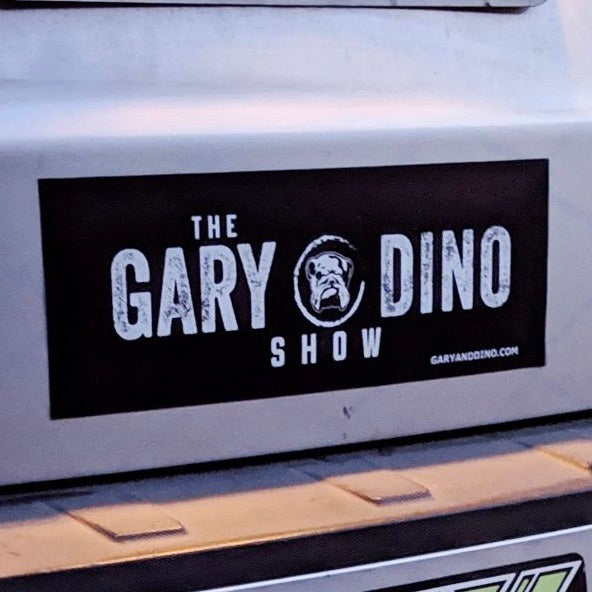 The Gary and Dino Show JUMBO BUMPER STICKER