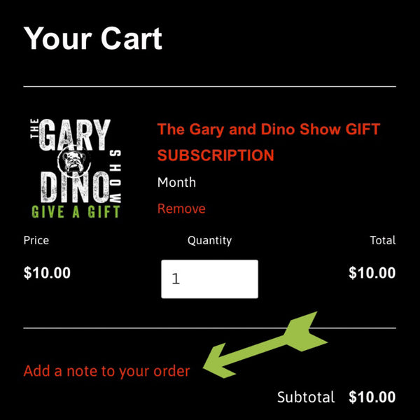 The Gary and Dino Show GIFT SUBSCRIPTION