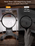 EasyLifeCare LED Magnifier - Neck Wear Visual Aid Illuminated Magnifying Glass