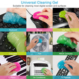 FiveJoy Cleaning Gel, 4 PCS Cleaner Gum for Car Detailing Tools, Keyboard, Camera, Printers