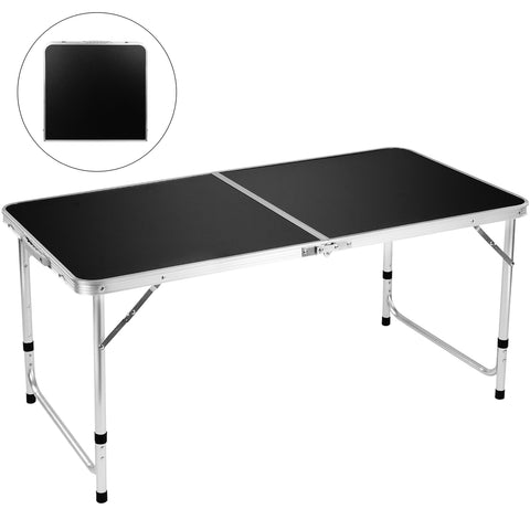 "Folding Camping Table, FiveJoy 4 FT Aluminum Height Adjustable 47"" x 24"""