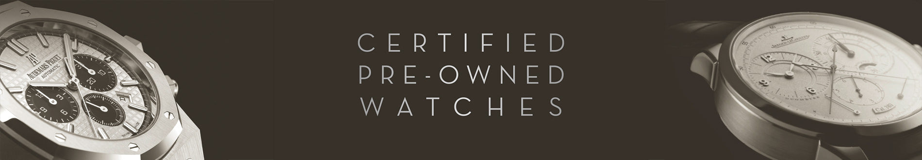 EW Certified Preowned Vintage Watch Program by Experts Watches Banner