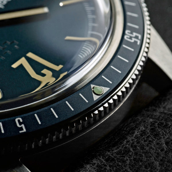 New Christopher Ward C65 Trident Diver Blue Dial Watch 41MM Black