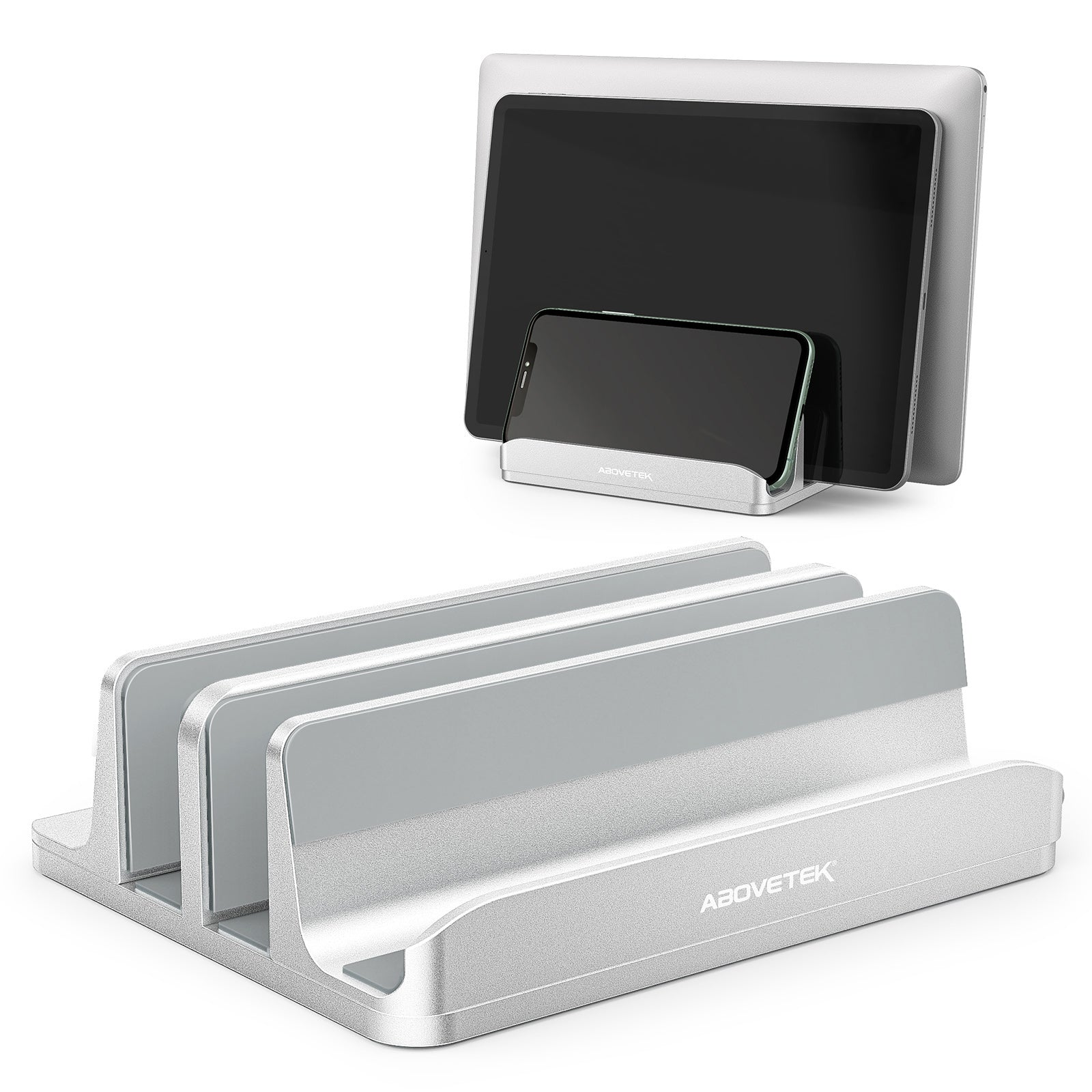 Vertical Laptop Stand - 3 Slots for Computer, Tablet, Phone (LH-21S)