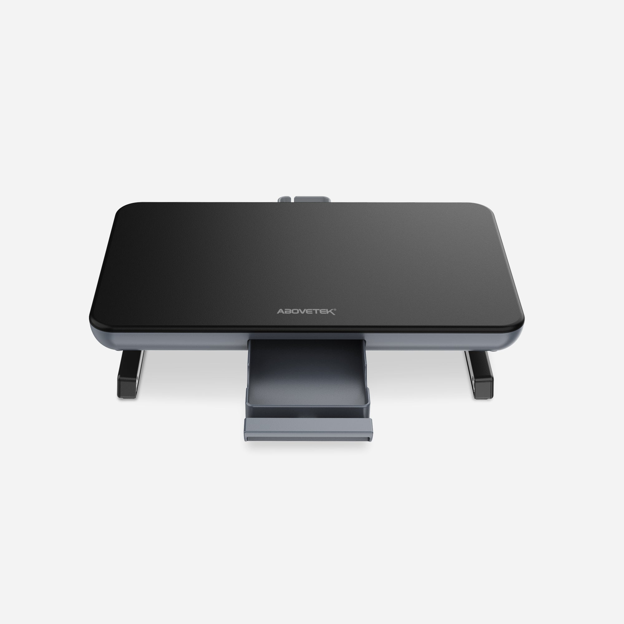 Adjustable Computer Stand with Storage Drawer (Black)