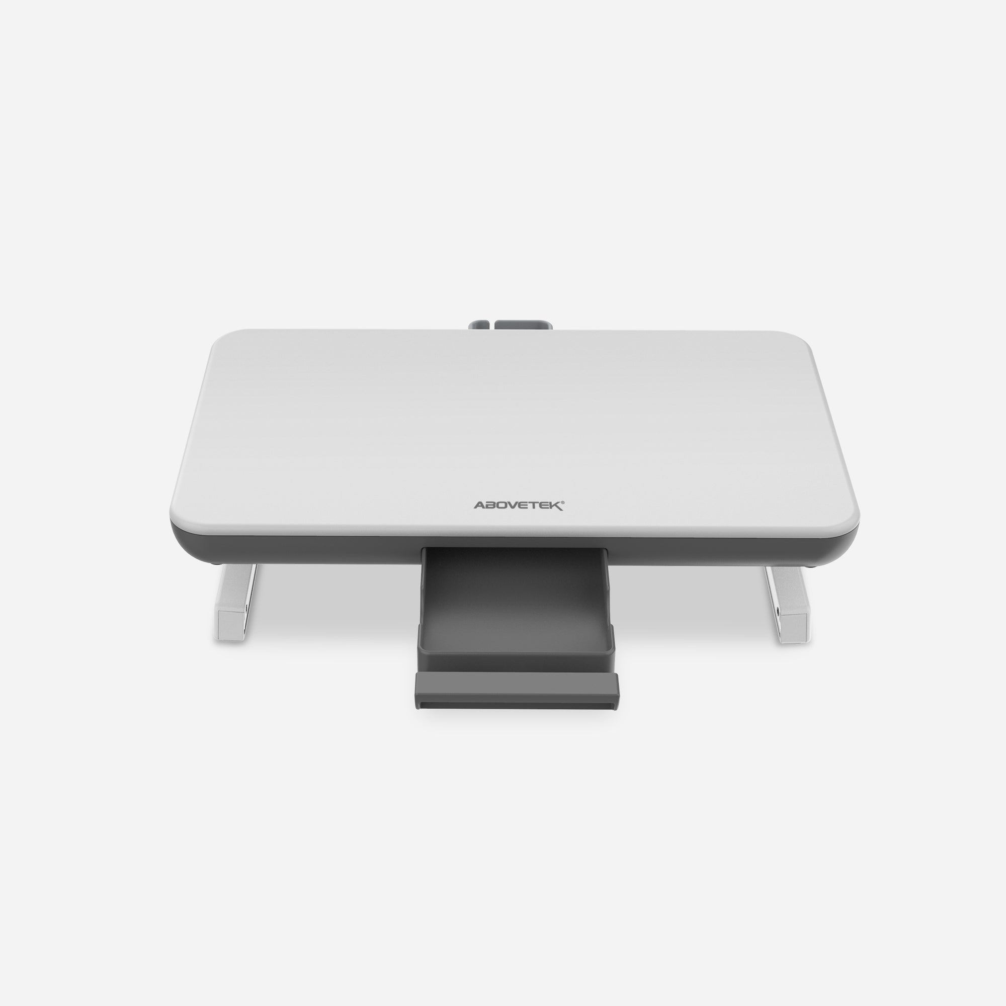 Adjustable Computer Stand with Storage Drawer (White)