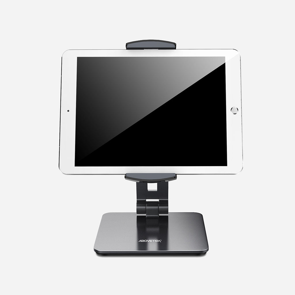 Aluminum Tablet & Phone Desk Stand 4''-14'' Devices With Two Sizes Holder