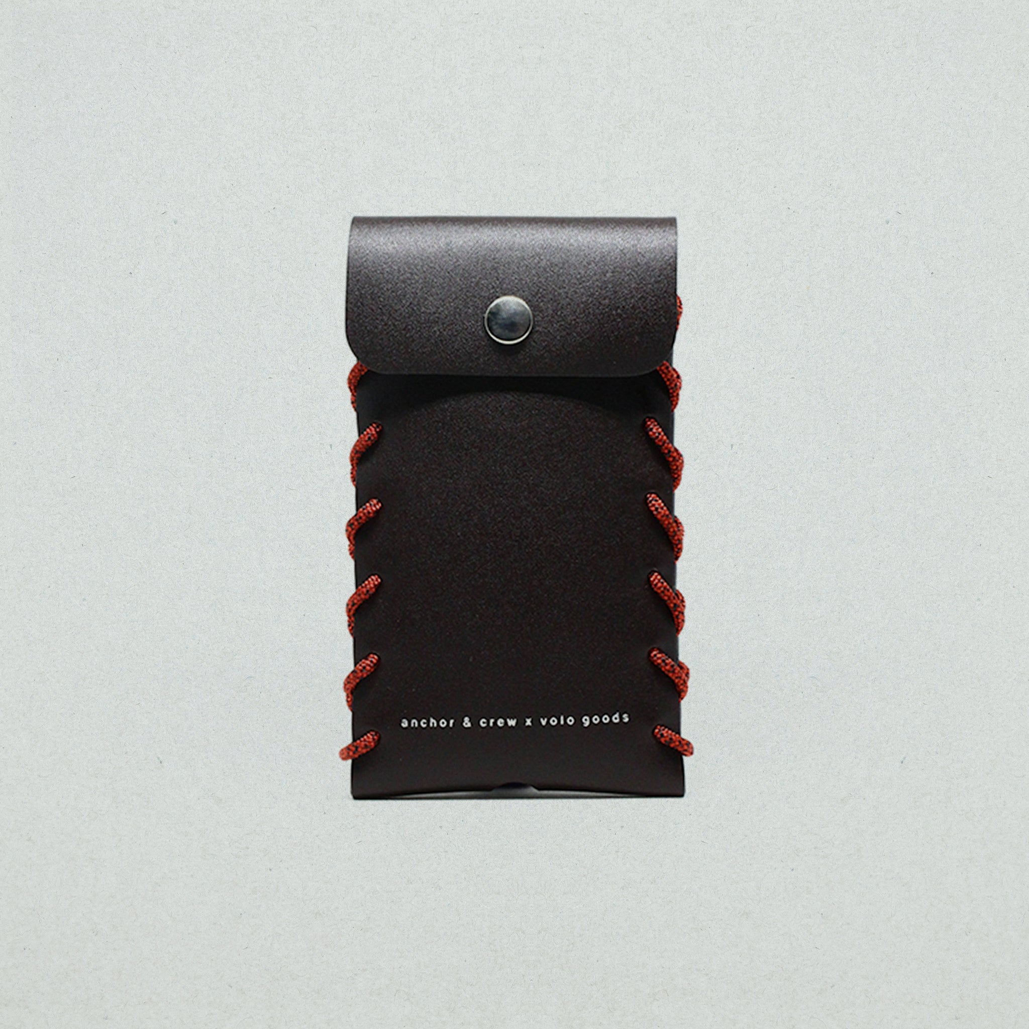 SMALL STANDEN LEATHER & ROPE PHONE CASE