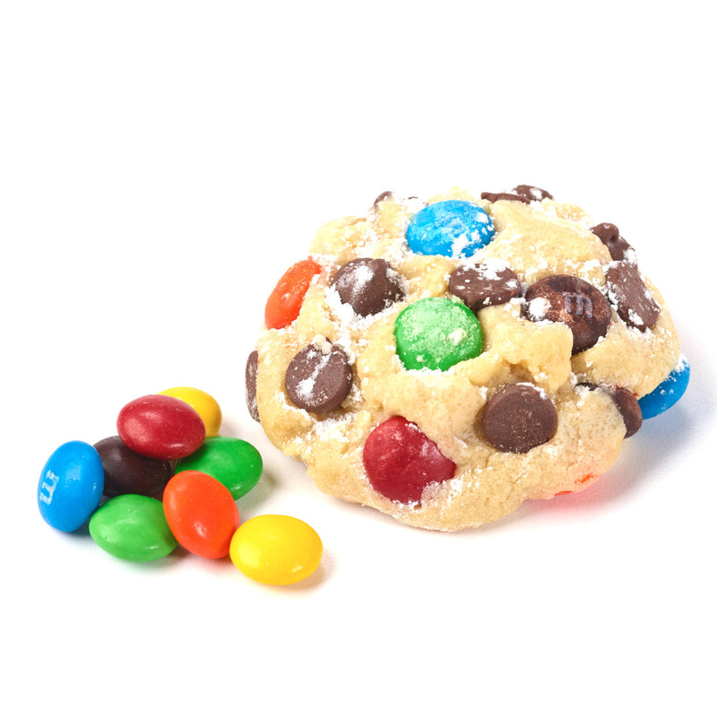 Our signature chocolate chip with colorful, candied milk chocolate pieces.